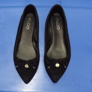 Flat Black Suede Shoes